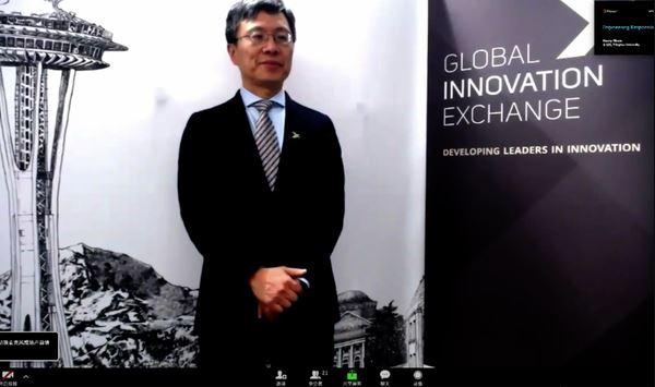 离去微软公司113天以后,沈向洋担任清华大学发布演说