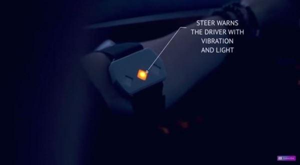 随着数值逐渐降下,Steer 会显示黄灯加上震动警示。