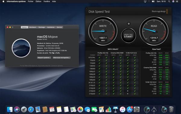 2019款MacBook Air固态硬盘速度比上代慢35%