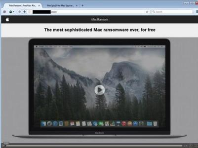 Mac不再安全!全球首款macOS勒索软件MacRansom现身