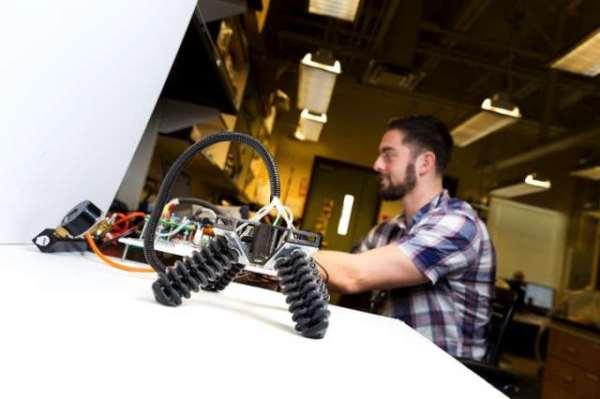 美国研发「软脚」机器人能用「海参腿」跨越复杂地形