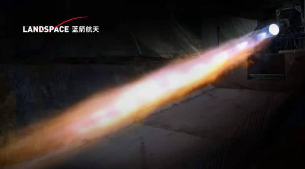 蓝箭航天80吨液氧甲烷发动机100%推力100秒试车成功